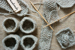 Handmade, knit, knitting, art hobby, lovely creatve Stock Image