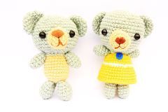 Handmade knit toy Stock Image
