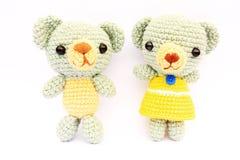 Handmade knit toy Stock Image