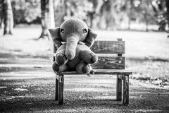 Handmade knit toy, elephant Royalty Free Stock Image