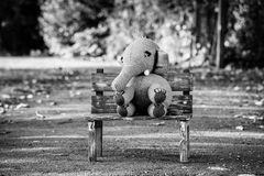 Handmade knit toy, elephant Royalty Free Stock Photo