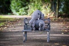 Handmade knit toy, elephant Stock Images