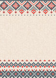 Handmade knitted abstract background pattern with scandinavian o Stock Image