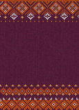 Handmade knitted abstract background pattern with scandinavian o Royalty Free Stock Photography