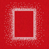 Handmade knitted seamless abstract background red pattern with w. Vector illustration Handmade knitted seamless abstract background red pattern with white Royalty Free Stock Photos