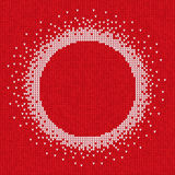 Handmade knitted seamless abstract background red pattern with w. Vector illustration Handmade knitted seamless abstract background red pattern with white round Vector Illustration