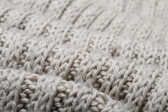 Handmade knitted wool texture Stock Images