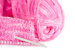 Handmade knitting Royalty Free Stock Images