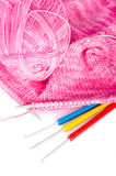 Handmade knitting Stock Photo