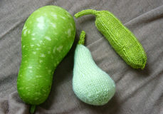 Handmade, knitting, vegetables Stock Photography