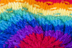 Handmade knitting wool texture background. Handmade colorful knitting wool texture background Royalty Free Stock Photography