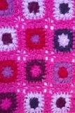 Handmade  knitting wool texture background. Handmade pink knitting wool texture background Stock Images