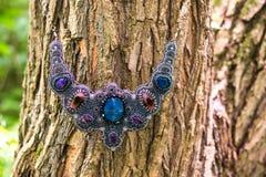 Handmade kolia z koralikami Zdjęcie Royalty Free