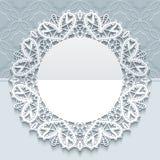 Handmade koronkowy kartka z pozdrowieniami szablon Zdjęcie Stock