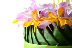 Handmade krathong Stock Photos