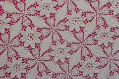 Handmade lace. Crochet background. Retro style royalty free stock images