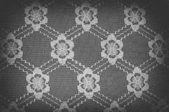 Handmade lace doily on a black Royalty Free Stock Photo