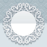 Handmade lace greeting card template Stock Photo