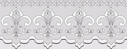 Handmade Lace material with ornaments Stock Photo