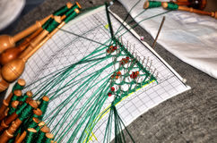Handmade lace, portuguese tradition Royalty Free Stock Photography