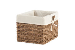 Handmade laundry basket Royalty Free Stock Photo