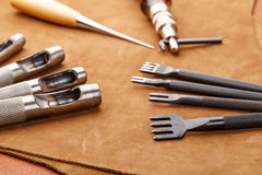 Handmade Leather craft tool Stock Photography
