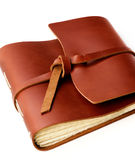 Handmade Leather Notepad Royalty Free Stock Images