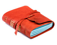 Handmade Leather Notepad Stock Photography