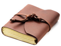 Handmade Leather Notepads Royalty Free Stock Photo