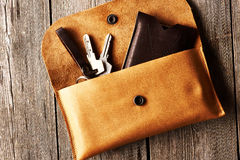 Handmade leather product Stock Photo