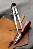 Handmade Leathercraft equipment Royalty Free Stock Images