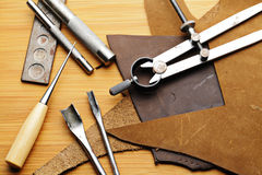 Handmade Lethercraft tool Royalty Free Stock Photography