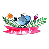 handmade Letras de encargo originales de la mano Imagen de archivo