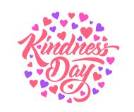 World Kindness Day handmade lettering stock illustration