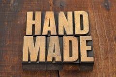 Handmade in letterpress type royalty free stock photos