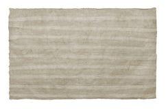 Handmade light grey  striped paper sheet on white isolated backg Stock Photos