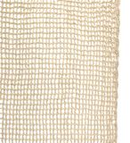 Knitting pattern of linen thread isolated on white background. Handmade linen flax lace material royalty free stock photo