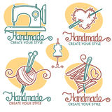Handmade logo Zdjęcia Royalty Free