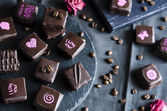 Handmade luxury chocolate Royalty Free Stock Photos