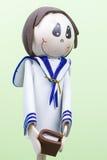 Handmade Mała postać Little Boy Ubierał dla Pierwszy komuni. Zdjęcie Royalty Free