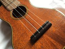 Soprano ukulele, high angle view royalty free stock photo