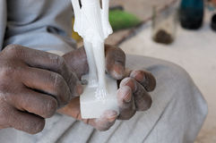 Handmade manufacture alabaster Stock Images