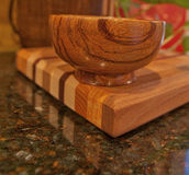 Handmade Marblewood Bowl Royalty Free Stock Photography