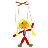 Handmade marionette Royalty Free Stock Photography