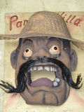 Handmade mask of Pancho Villa Stock Photos