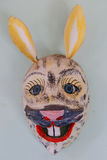 Handmade mask of a rabbit Stock Photos