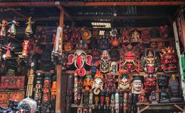 Handmade maski w Kathmandu Obrazy Royalty Free