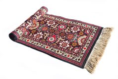 Handmade mat. Handmade original ornament on Ayzerbadzhan mat Royalty Free Stock Images