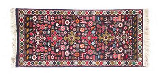 Handmade mat. Handmade original ornament on Ayzerbadzhan mat Stock Image