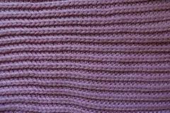 Handmade mauve rib knit fabric with horizontal wales Royalty Free Stock Photos